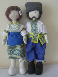 Кукла текстильная Козак и Козачка