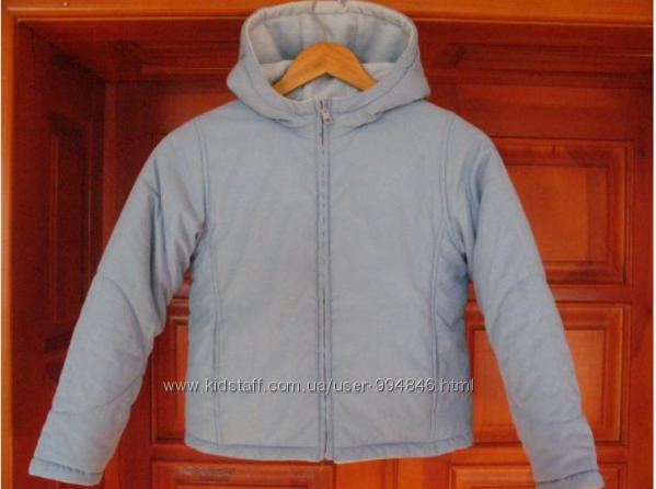 Eвро зима демисезон теплая куртка Marks & Spencer девочки 9-10 лет