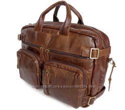 Кожаная мужская сумка трансформер рюкзак бриф сумка для ноутбука