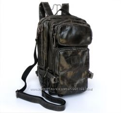 Рюкзак мужской из телячей кожи, большой размер