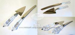 Праздничный Набор для торта нож и лопатка, сталь