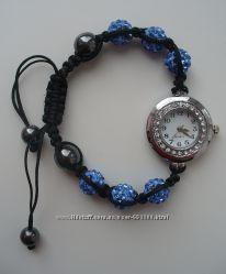 Часы с браслетом шамбала, кулон серьги в подарок