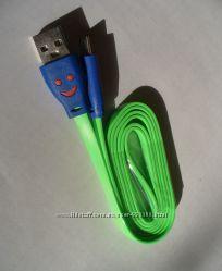 Micro USB кабель СМАЙЛ для синхронизации и зарядки, ассортимент