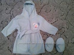Халатик и тапочки для малыша