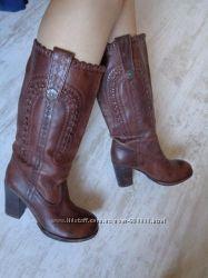 Шкіряні чоботи Вінтаж ручна робота 39р