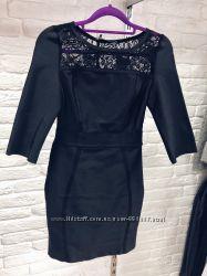 Стильное нарядное бандажное мини платье в наличии