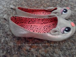 золотые туфли-сабики на девочку