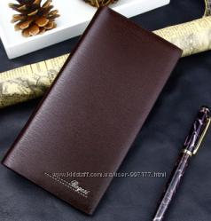 Стильный мужской кошелек коричневого цвета