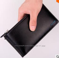 Стильный мужской кошелек черного цвета