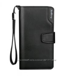 Стильный мужской кошелек-клатч черного цвета Baellerry