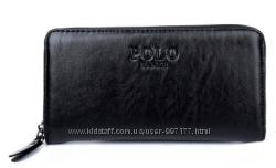 Стильный мужской кошелек черного цвета FANKEPOLO
