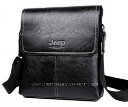 8d920e2d327f Черная большая кожаная сумка планшет Jeep Buluo, 630 грн. Мужские ...