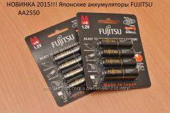 Японские аккумуляторы Fujitsu АА2550, АА2000, ААА800
