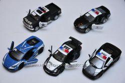 Машина полиция 5 видов масштаб 1-32 модель Kinsmart police металл