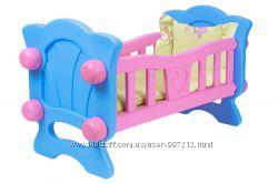 Кроватка для куклы до 40см в комплекте с постельным