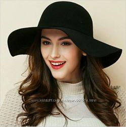 Федора широкополая шляпа 4 разные модели