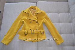 Пальто желтое, размер S