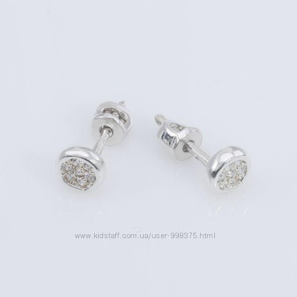 Серебряные серьги пусеты гвоздики