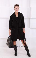 Пальто женское с меховыми карманами