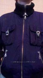 Укороченная молодежная теплая курточка куртка