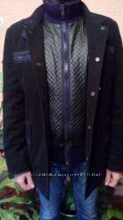 Теплая зимняя курточка пальто дубленка