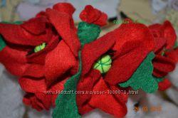 Венок веночек цветы украинский маки фетр
