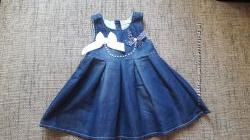 Джинсовое платье на девочку baby rose