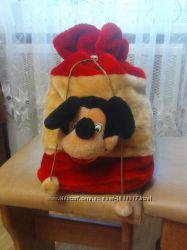 Рюкзак меховый детский микки маус-отличный подарок к праздникам.