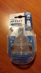 Соски для бутылочек Avent Classic. 3м и 1м . Новые