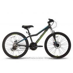 Велосипед 24&180&180 PRIDE PILOT черно-зеленый матовый 2016