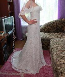 Нежное кружевное свадебное платье Daria Karlozi Romance
