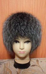 Меховая шапка с чернобурки