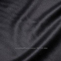 Тканина для машиноі вишивки Габарин чорного кольору