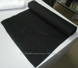 Льон, для машиноі вишивки та пошиття сорочок, чорного кольору