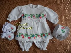 костюм для крещения Квіточка