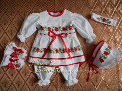 костюм для крещения  Червоний Мак