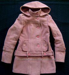 Пальто зимнее розовое