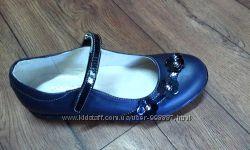 Туфли Lapsi синие с цветочками
