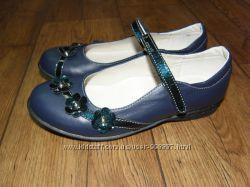 Туфли Лапси синие кожа