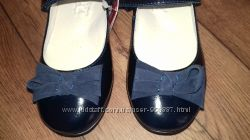 Туфельки Лапси синие лак 30-36
