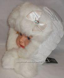 Зимняя шапка для девочки р. 50-54