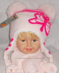Зимний комплект шапка и шарфик на девочку 3-5 лет