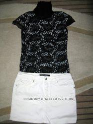 Классная футболка-блуза с пайетками. Размер S украинский  42