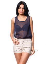 Шифоновая прозрачная блуза  Vero Moda. Размер S