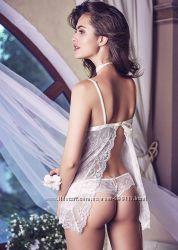 Пеньюар 6002 платье для сна черный Anabel Arto
