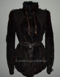 Шикарная куртка Дубленка Мех пони  овчина