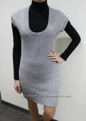 Платье Рimkie вязаное серое, размер М