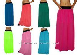Шифоновые юбки в пол. Много цветов
