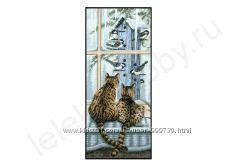 Набор для вышивания Dimensions 03887 Коты у окна