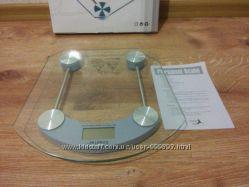 Электронные напольные весы до 150кг, квадратные и круглые, прозрачные